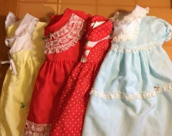 Lot of Four Vintage Baby Dresses!