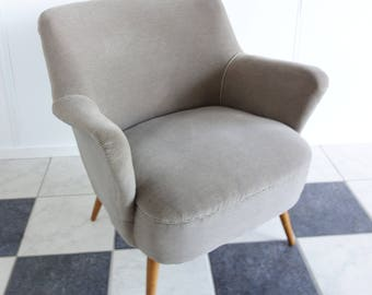 Perfect vintage grey arm chair, 1960's
