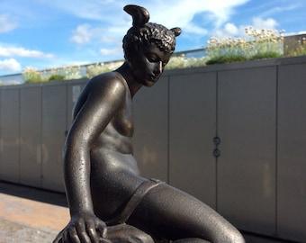 Bouret bronze spelter figure of Mercury