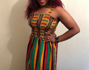 Mix African Print Maxi Dress