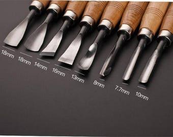 Wood Cut Knife Tool Set 6pcs/set Woodpecker DIY Hand Wood Carving Tools Chisel Set Knives Tool Set Woodworking Hand Tools