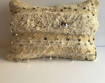 Moroccan Wedding Blanket Pillow Cover