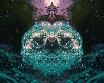 Art Series #2 -Aqua Tiara