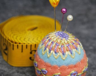 FREE SHIP made to order Springtime Bottlecap Pincushion