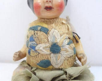 All Bisque Nippon Asian Baby Doll 5""