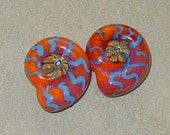 BHG  Painted nautilus pair--OOAK