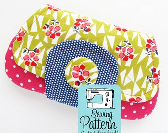 Pocket Clutch PDF Sewing Pattern | Mini Clutch Phone Pouch with Pocket Pattern