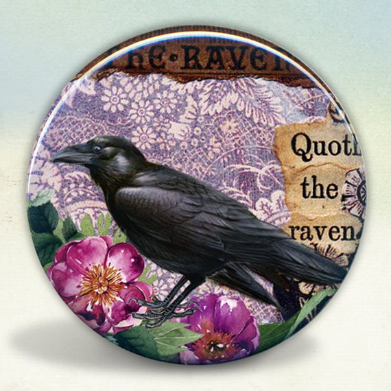 The Raven collage Pocket Mirror