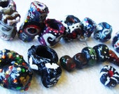 16 Psychedelic Goddess Polymer Clay Beads For Jewelry Making And Dreadlock Beads