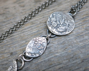 Eclipse necklace ... recycled fine silver / sterling silver / full moon phases
