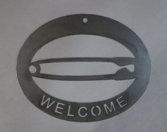 Safety Pin Welcome sign Anti-Trump Love Metal Sign wall art Safe Custom