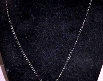 "18"" Black Gunmetal Crystal Angel Wing Pendant w/ Chain"