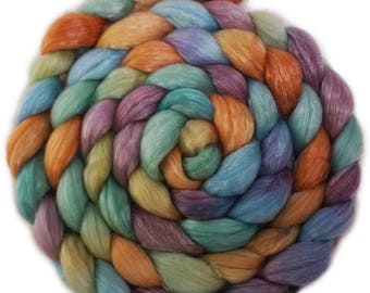 Handpainted Merino Tencel Wool Roving - 4 oz. ARIZONA - Spinning Fiber