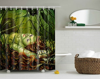 RW2 Amber Mermaid Shower Curtain by Robert Walker