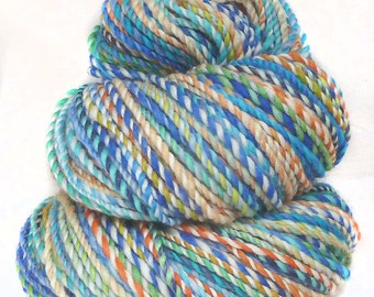 Handspun Yarn handdyed superwash Merino wool