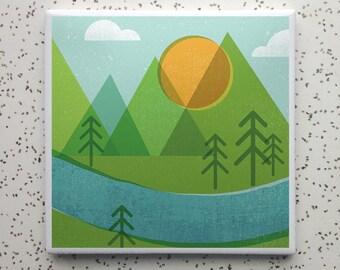 Forestry Tile Coaster
