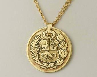 Peru Coin Necklace 1958
