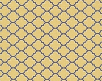 Joel Dewberry Fabric / Lodge Vintage Yellow / AVIARY 2  Cotton Quilt Fabric 1 yard