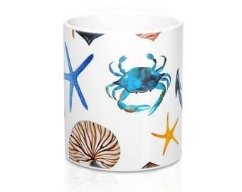 Summer Beach Coffee Mug, Coffee Mug, Stainless Steel Travel Mug, Ceramic Mug, Travel Mug, Beach Coffee Mug, Coffee Cup. Tropical Mug