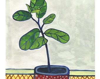 NEW // Fig Houseplant Print // Modern Decor // Garden Lovers // Plant Paintings // Modern Houseplant // Modern Print
