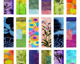 Bright Colors Microscope - 1x3 Inch - Digital Collage Sheet - Instant Download