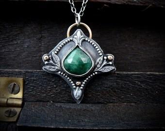 burgeoning ... emerald pendant