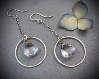crystal orbit earrings