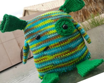 READY TO SHIP: Frankie the Monster, Knit with Love