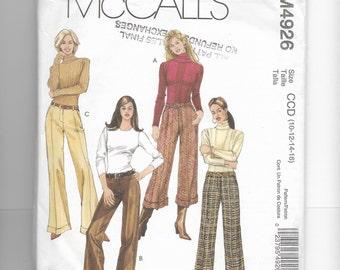 McCall's Misses' /Miss Petite Pants Pattern 4926