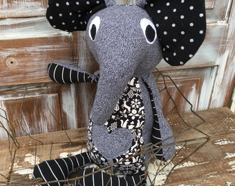 Norway the Elephant -Stuffed Softie-One of a Kind Toy-Eco Friendly Toy