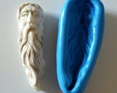 Wise Bearded Man Silicone Mold Mould 54 mm - Spiritual Mystical Polymer Clay Sugarpaste Jewellery Making Cake Cake Decorate Fimo Resin