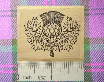 Scottish Thistle Rubber Stamp Icon of Scotland #128
