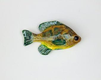 Sunfish ceramic fish art decorative wall hanging