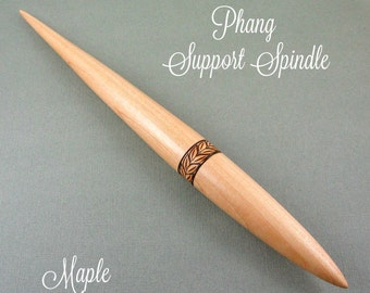 Maple Phang Support Spindle with Pyrography