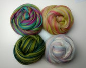 Blended Merino Roving - Mixed Pack of Wool Roving - Wool Sliver - Spinning - Felting - 200grams - Mixed Colours - Wool Roving - Wool Silk