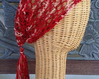 Saucy Sassy Crocheted Snood with Tassel