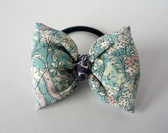 Japanese Gift Idea, Silk Kimono No Glue Puff Ribbon Ponytail Holder, Kimono Fabric Hair Accessory