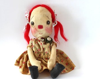 Mandy, raggedy cloth doll, Collectible, Home Decor, Interior Design