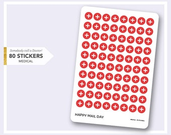 Medical Doctor icon stickers for planner - 80 stickers