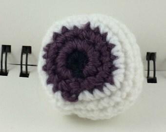 Crocheted Eyeball Hacky Sack - Muted Purple
