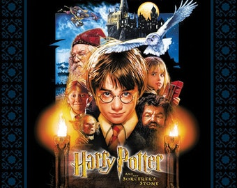 Harry Potter Digitally Printed Fabric Panel 1 Yard Sorcerer's Stone Poster