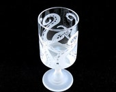AFTER XMAS SALE Embracing Tentacles - Modern Style Wine Glass - Etched Glassware - Ready to Ship
