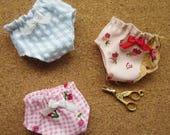 3 panties for Blythe, Lati Yellow, Ming, Meng and Mong  SET 7