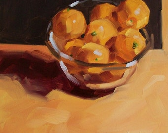 BOWL OF SUNSHINE original oil painting of oranges