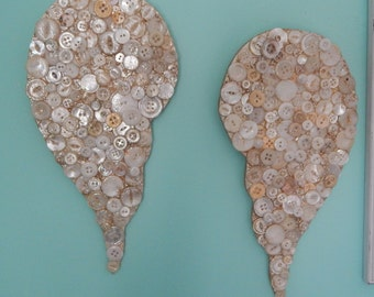 Angel Wings/Vintage Buttons/Recycled