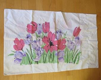 Vintage Vera Neumann Floral Pillowcase