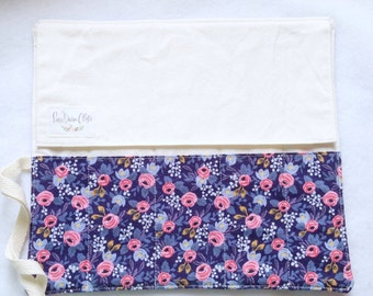 Artist Roll or Pen Roll // Rosa in Navy by Rifle Paper Co