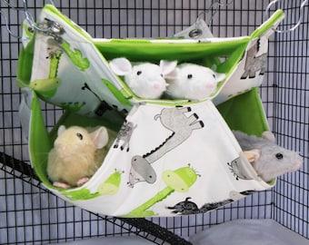 Rat Hammock,Honeycomb Hammock,Rat Accessory,Pet Accessory,Pet Hammock,Pet Cage Bedding,Rat Bedding,Small Animal Hammock,Rat Bed,Hammock