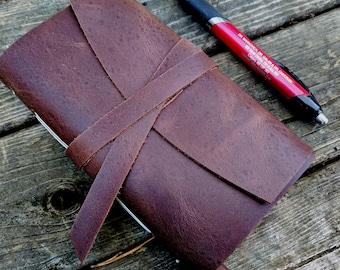 2017 Weekly Planner - 25% OFF - dark brown leather