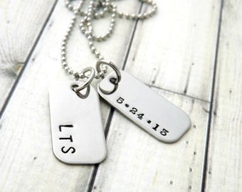 personalized necklace-mens necklace-boys necklace-dog tag necklace-boys personalized necklace-personalized mens jewelry